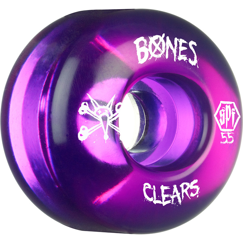 Bones SPF Clear Purple Wheel 84B 55mm