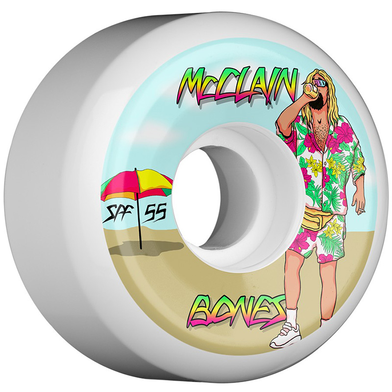 Bones SPF McClain Beach Bum Sidecuts Wheels 84B 55mm