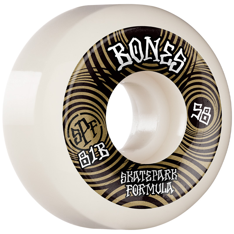 Bones SPF Ripples P5 Sidecut Wheels 81B White 58mm