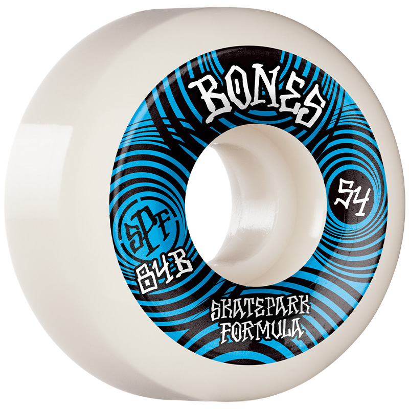 Bones SPF Ripples P5 Sidecut Wheels 84B White 54mm