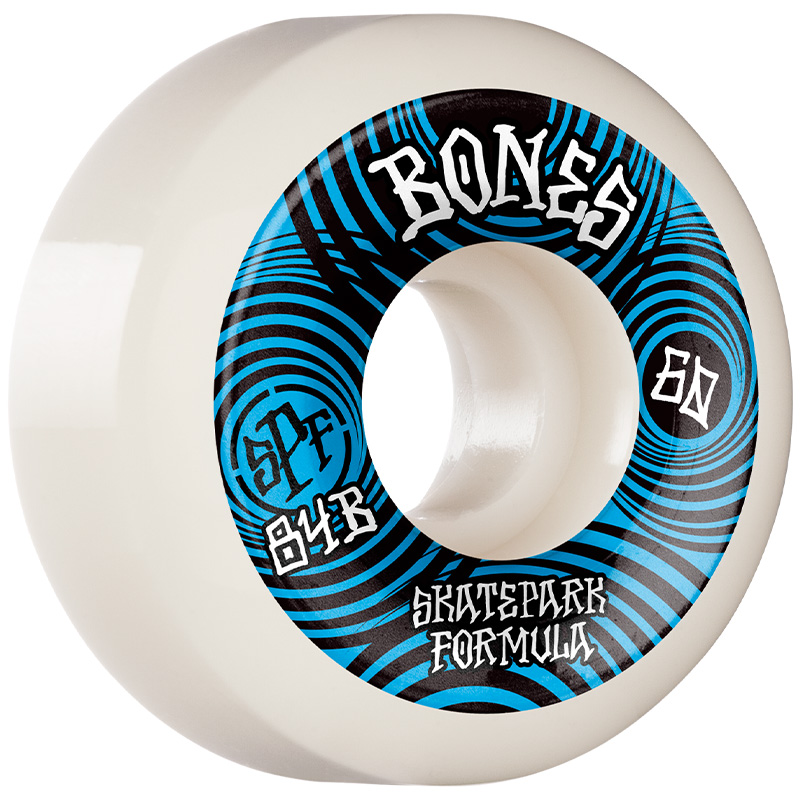Bones SPF Ripples P5 Sidecut Wheels 84B White 60mm