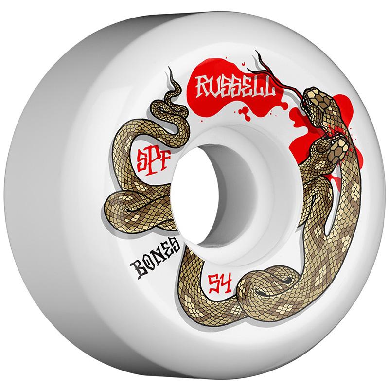 Bones SPF Russel Snake Bite Sidecuts Wheels 54mm