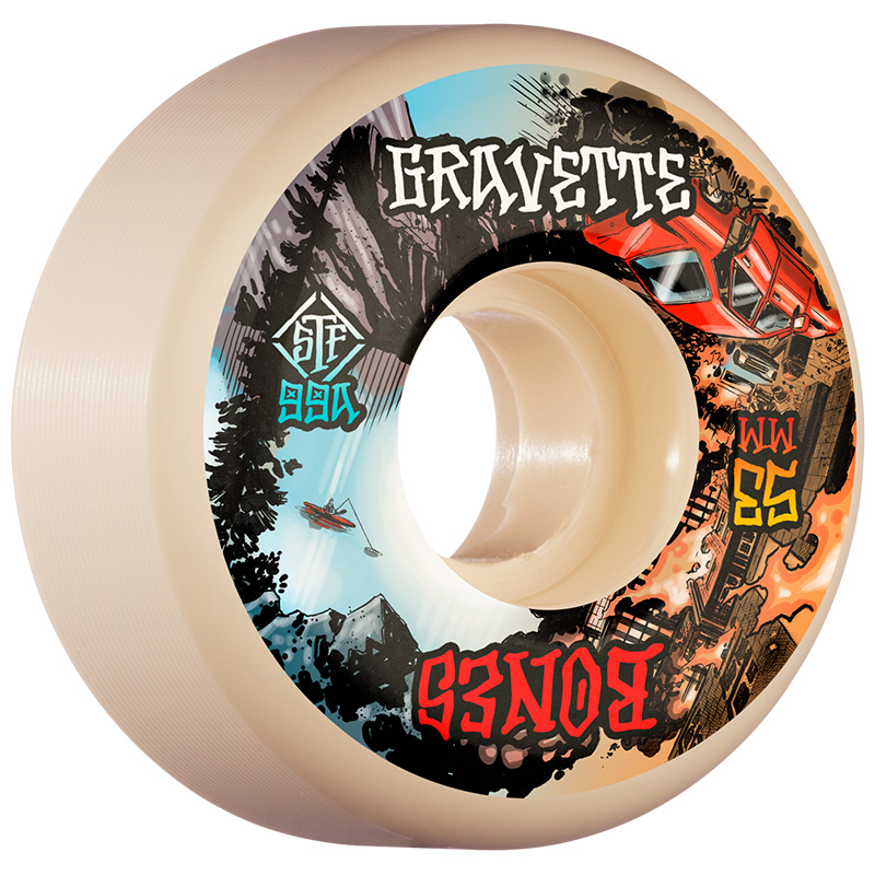 Bones STF Gravette Heaven & Hell V2 Locks Wheels 99A 53mm