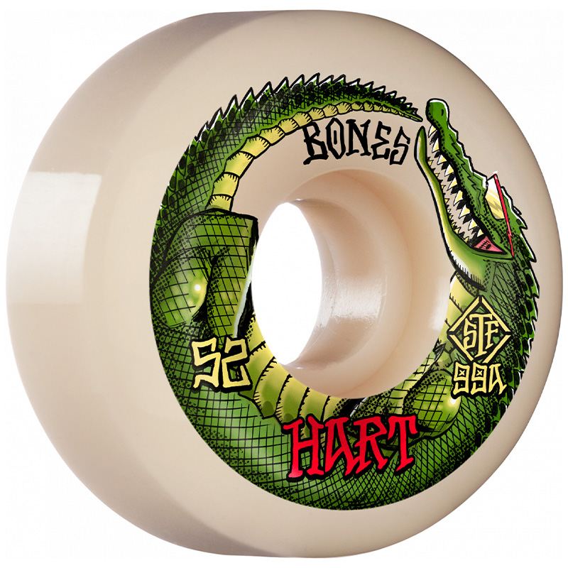 Bones STF Hart Speed Gator Sidecut Wheels V5 99A 52mm