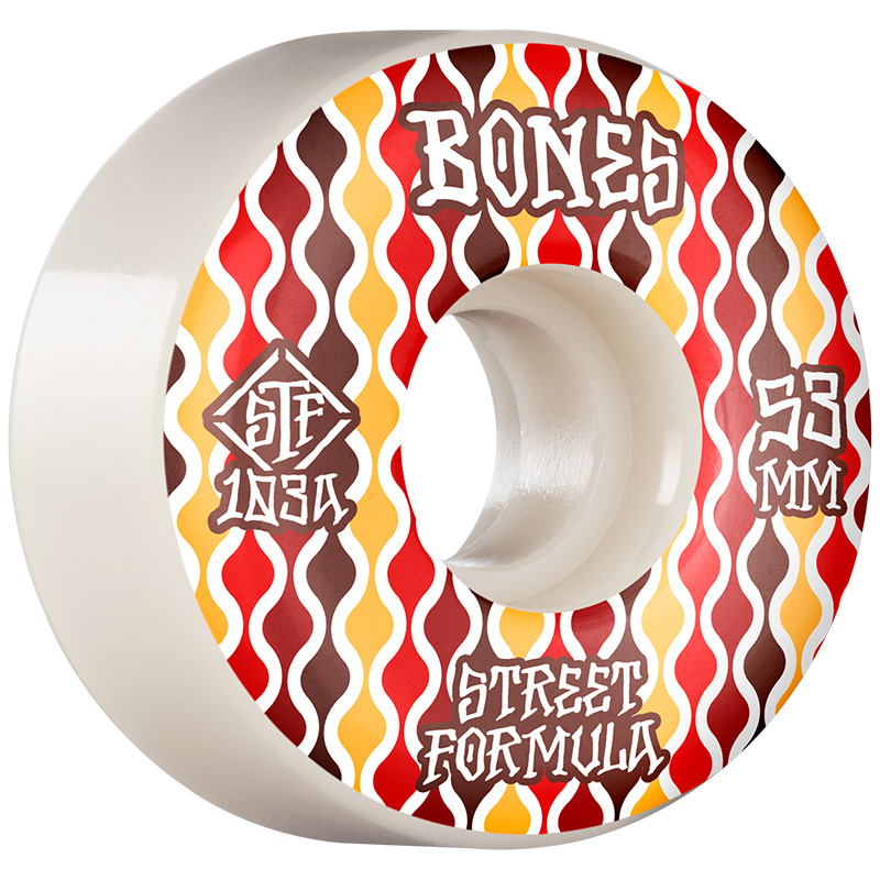Bones STF Retros V2 Locks Wheels 103a White 53mm
