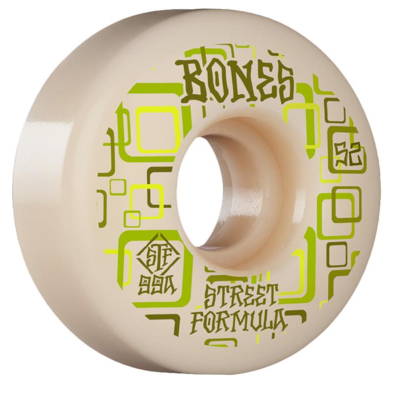 Bones STF Retros V3 Slims Wheels 99a White 52mm