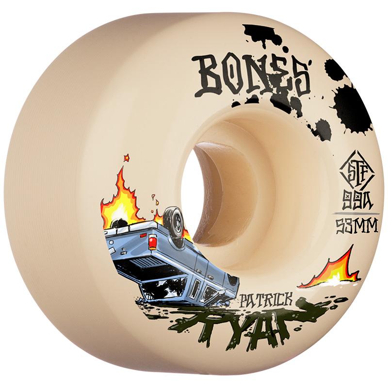 Bones STF Ryan Crash & Burn V4 Wide Wheels 99A 53mm