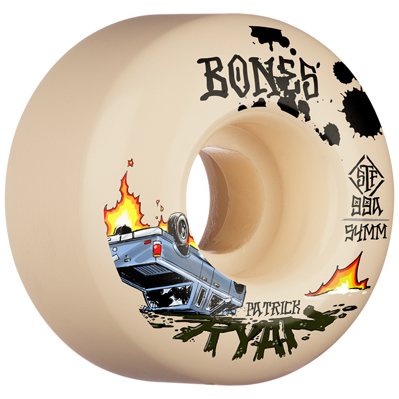 Bones STF Ryan Crash & Burn V4 Wide Wheels 99A 54mm