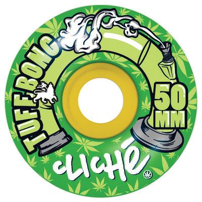 Cliche Tuff Bong Standard Rasta/Green Wheel 50mm