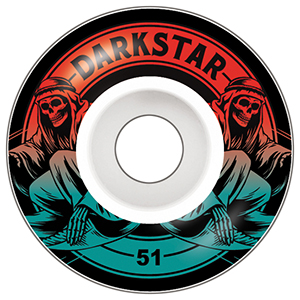 Darkstar Magic Wheel Red Fade 51mm