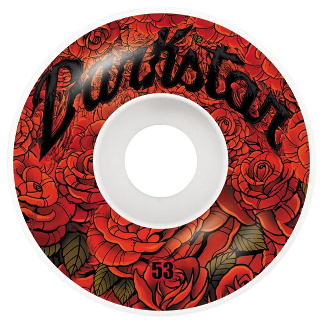 Darkstar Roses Wheel Red 53mm