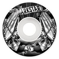Darkstar Salvation Wheels Black/White 53mm