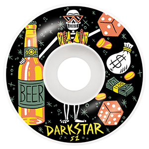 Darkstar Vices Black Wheels 52mm