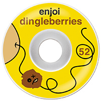 enjoi Dingleberry Wheels Yellow/White 52mm