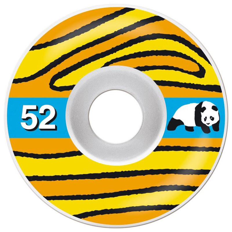 Enjoi Wooden Wheels Yellow/Orange 52mm