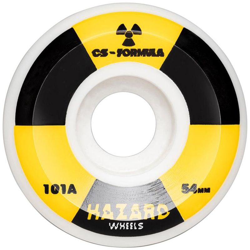 Hazard Radio Active CS Conical Wheels White 54mm