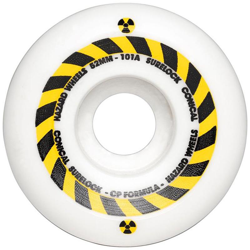 Hazard Sign CP Conical Surelock Wheels White 52mm