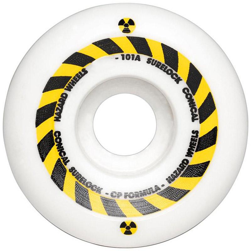 Hazard Sign CP Conical Surelock Wheels White 54mm