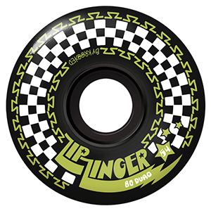 Krooked Zip Zinger Wheels Black 80HD 54mm