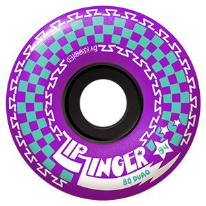 Krooked Zip Zinger Wheels Purple 80D 54mm