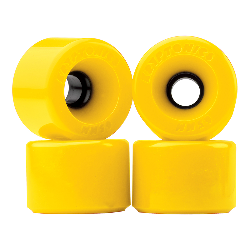 Kryptonics Star Trac Wheels Yellow 76A 65mm