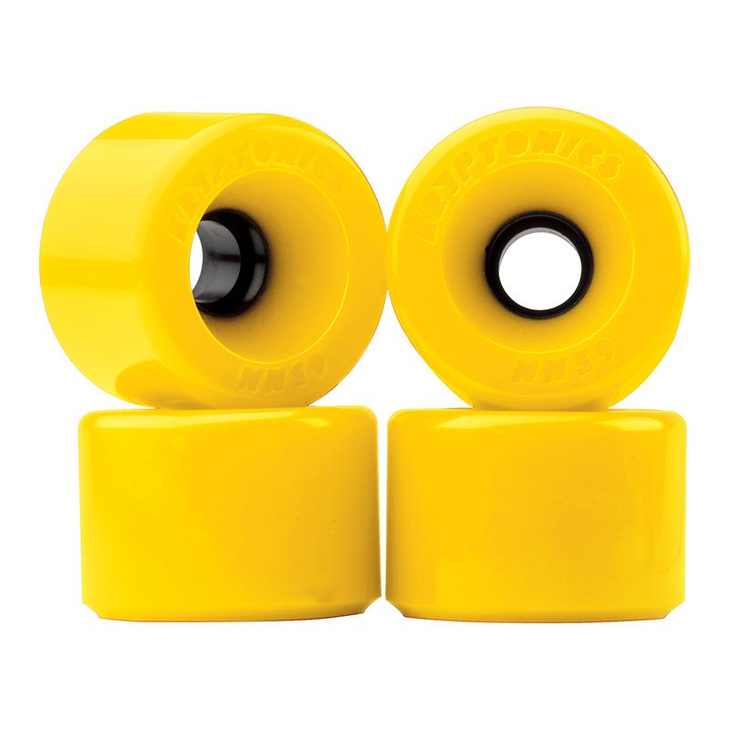 Kryptonics Star Trac Wheels Yellow 76A 75mm