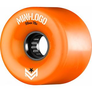 Mini Logo A-Cut A.W.O.L. Wheels Orange 78A 59mm