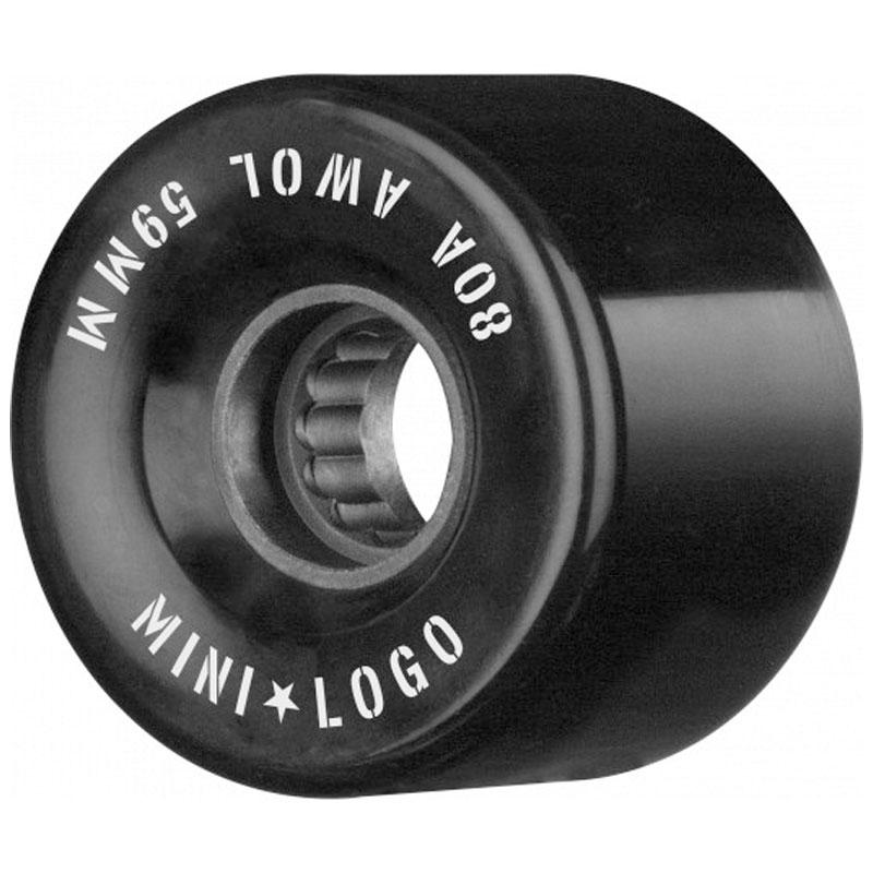 Mini Logo AWOL Wheels 80A Black 59mm