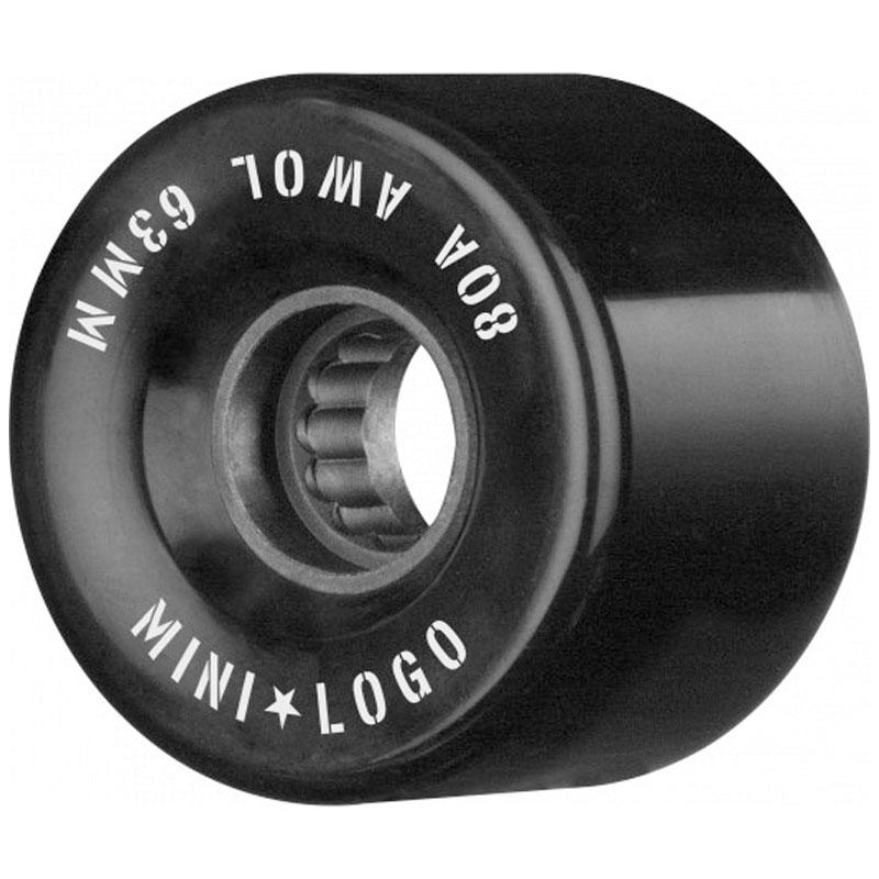 Mini Logo AWOL Wheels 80A Black 63mm