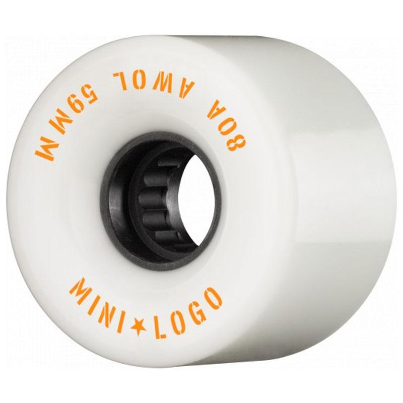 Mini Logo AWOL Wheels 80A White 59mm