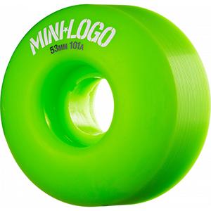 Mini Logo C-Cut Green Wheels 101A 53mm