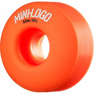 Mini Logo C-Cut Orange Wheels 101A 53mm