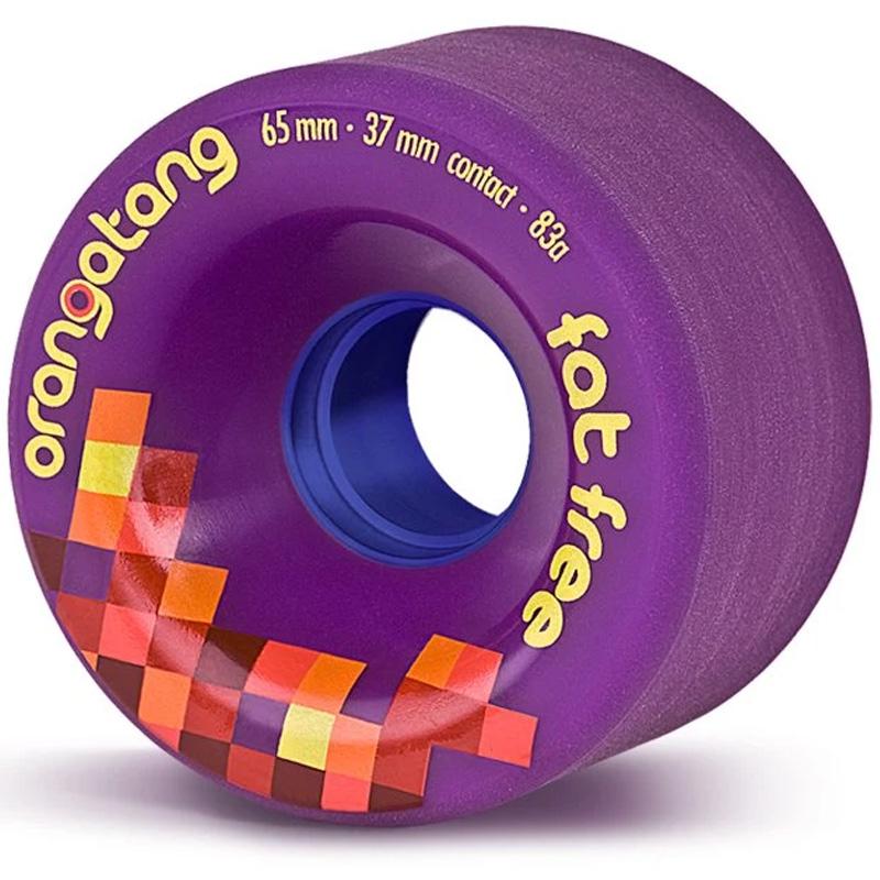 Orangatang Fat Free Wheels 83A Purple 65mm