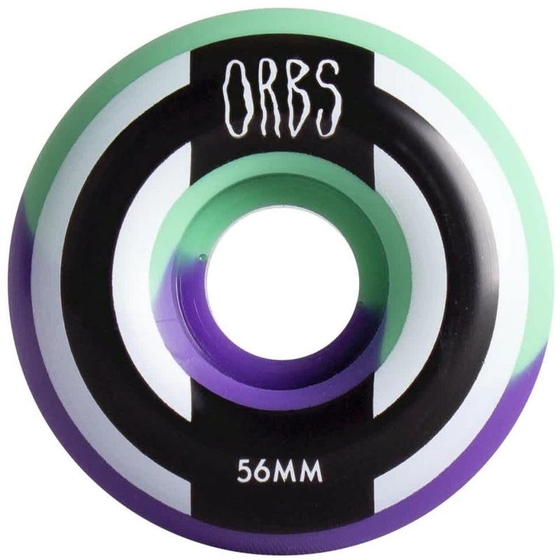 Orbs Apparitions Round Wheels 99A Mint/Lavender Split 56mm
