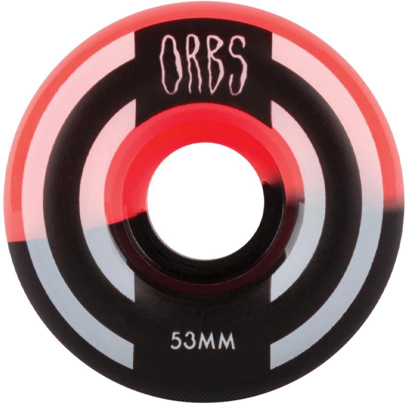 Orbs Apparitions Round Wheels 99A Neon Coral/Black Split 53mm
