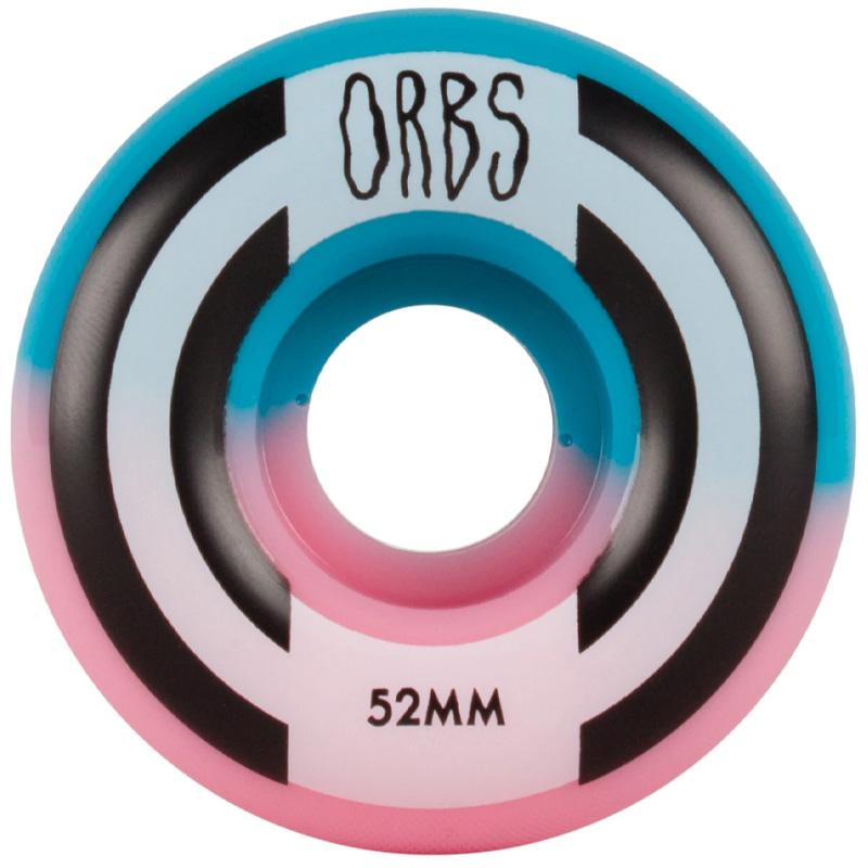 Orbs Apparitions Round Wheels 99A Pink/Blue Split 52mm