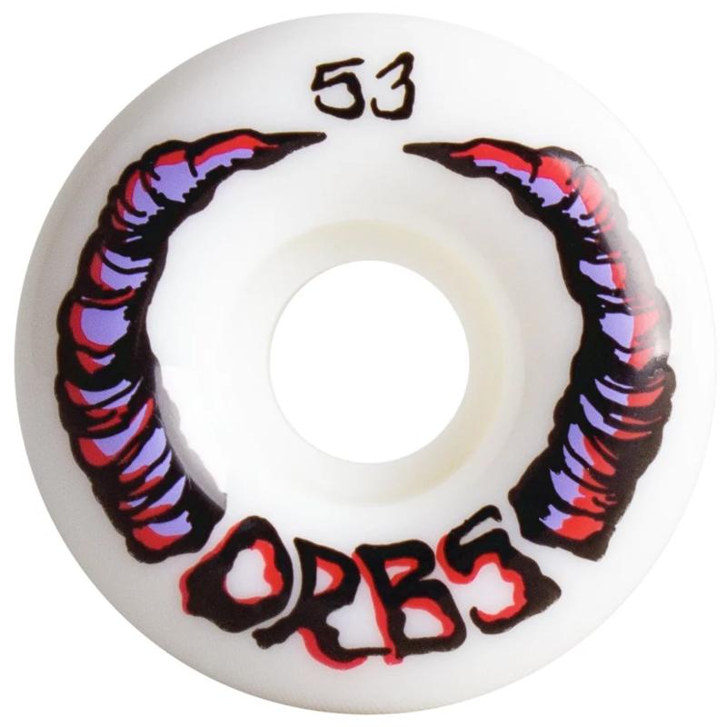 Orbs Apparitions Round Wheels 99A White 53mm
