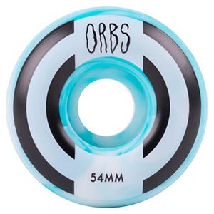 Orbs Apparitions Swirl Wheels Blue/White 100A 54mm