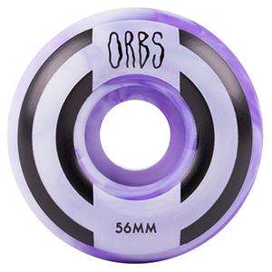 Orbs Apparitions Swirl Wheels Purple/White 100A 56mm