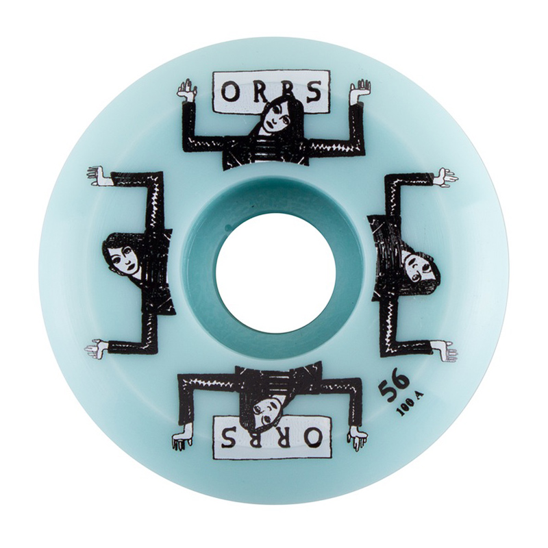 Orbs Fantasma Side Cuts 100A - Non-Cored Wheel Ice Blue 56mm