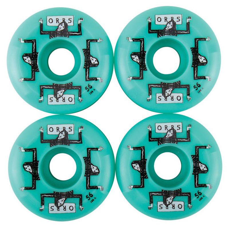 Orbs Fantasmas 100A Non Cored Sidecut Wheel Teal 56mm