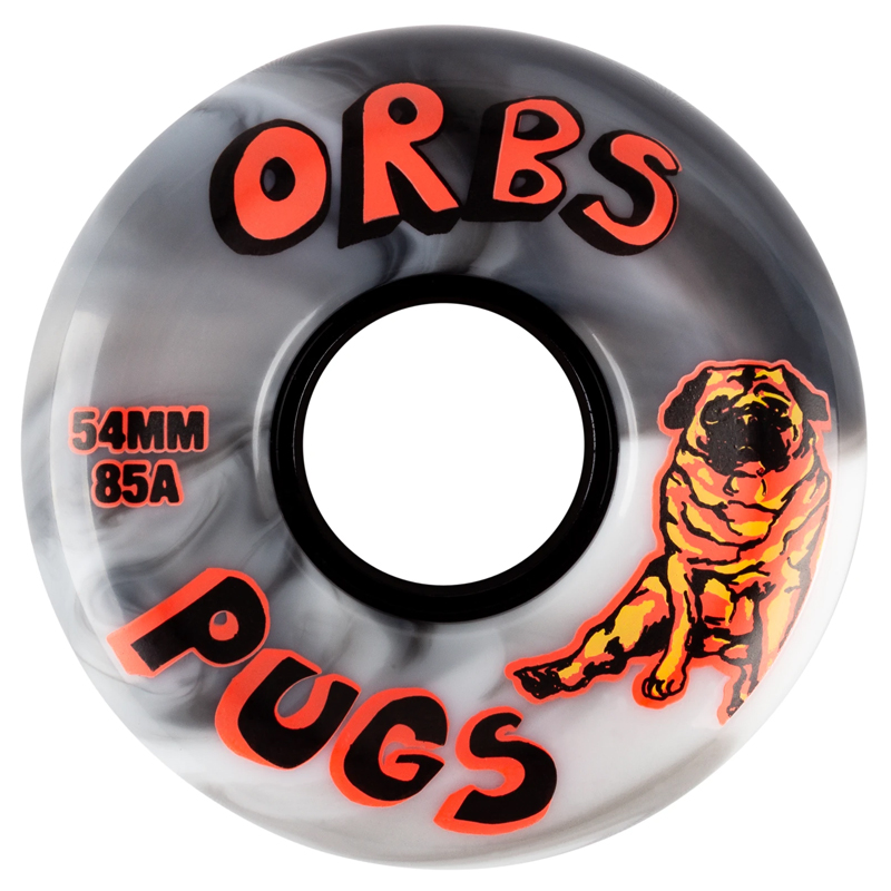Orbs Pugs Conical Wheels 85A Black/White Split 54mm