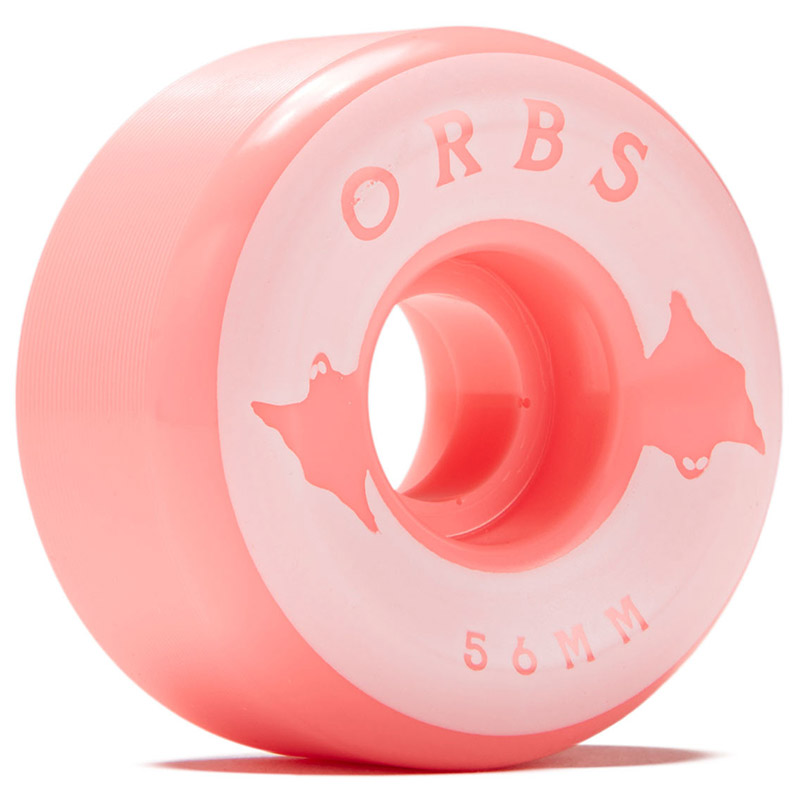 Orbs Specters Conical Solids Wheels 100A Neon Coral 56mm