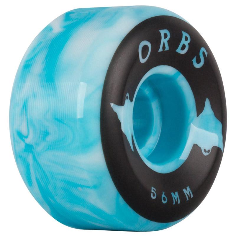 Orbs Specters Conical Swirls Wheels 100A Blue/White 56mm