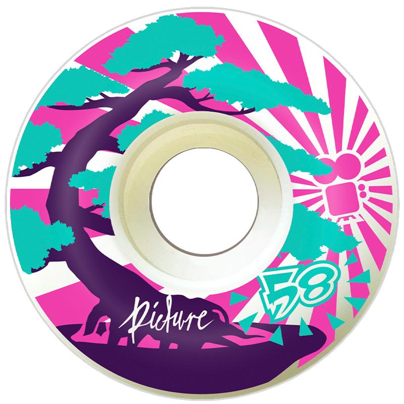 Picture Wheel Co Bonsai Soft Pink Wheels 58mm