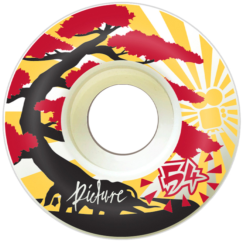Picture Wheel Co Bonsai Yellow Wheels 54mm