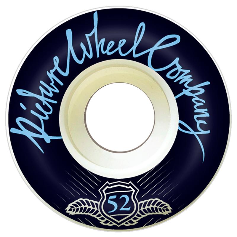 Picture Wheel Co POP Reverse Background Wheels Baby Blue 52mm