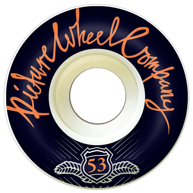 Picture Wheel Co POP Reverse Background Wheels Orange 53mm
