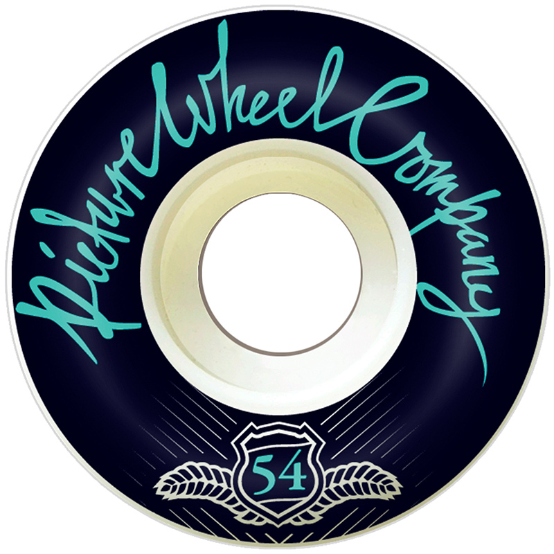 Picture Wheel Co POP Reverse Background Wheels Teal 54mm