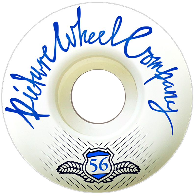 Picture Wheel Co POP White Background Wheels Blue 56mm